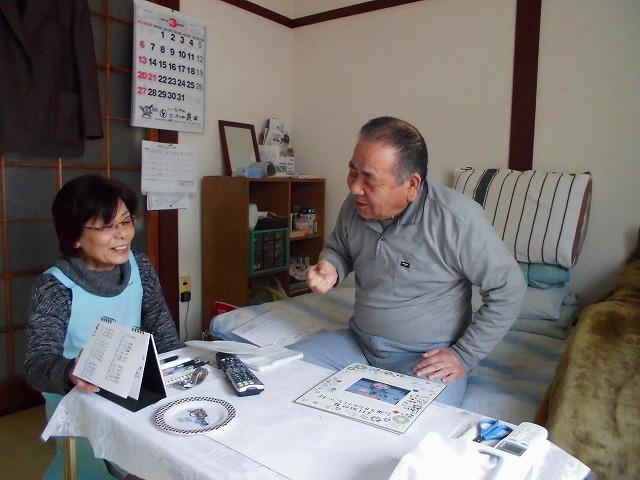 訪問介護員のYさんと対話光景